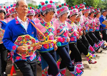 彝族衣服布料花纹