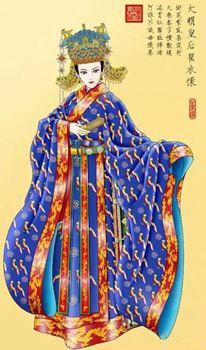 """""""真红对襟大袖衫+凤冠霞帔""""出现在明代比较肯定,这种起源很晚的婚服"""